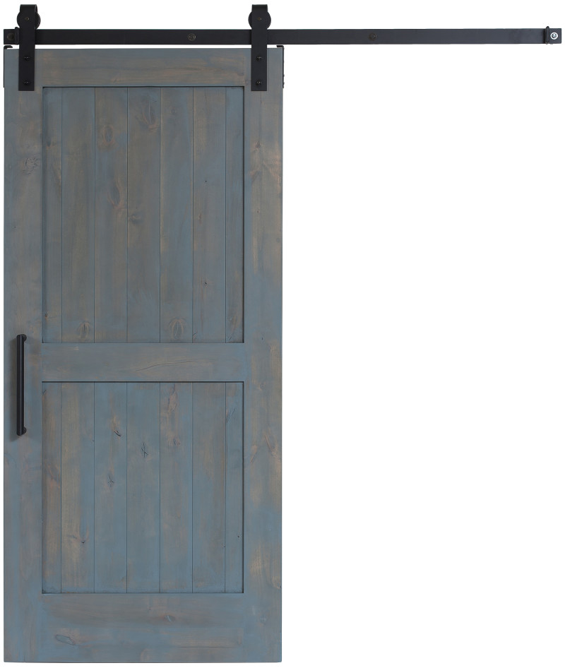2-Panel Wood Sliding Barn Door from https://rusticahardware.com