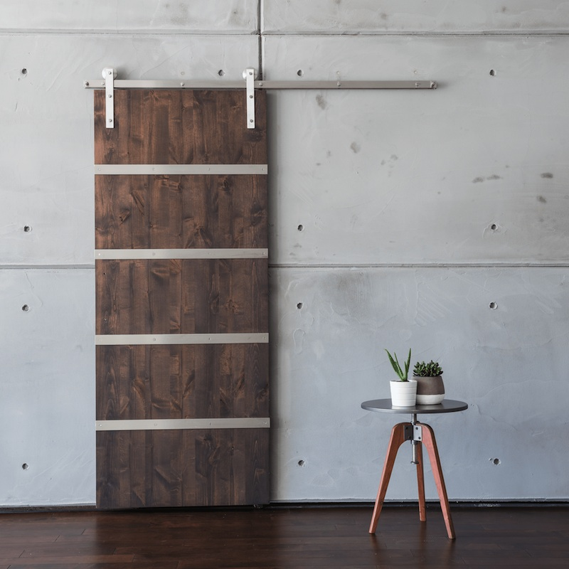 Modern 5 Panel Sliding barn door from https://artisanhardware.com/