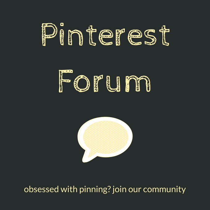 Pinterest forum: a community for those obsessed with Pinterest