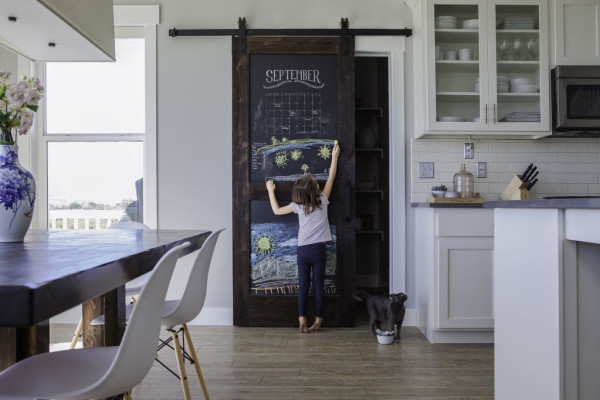 Chalkboard barn door from rusticahardware.com