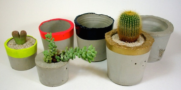 concretes small planter pots  for succulents