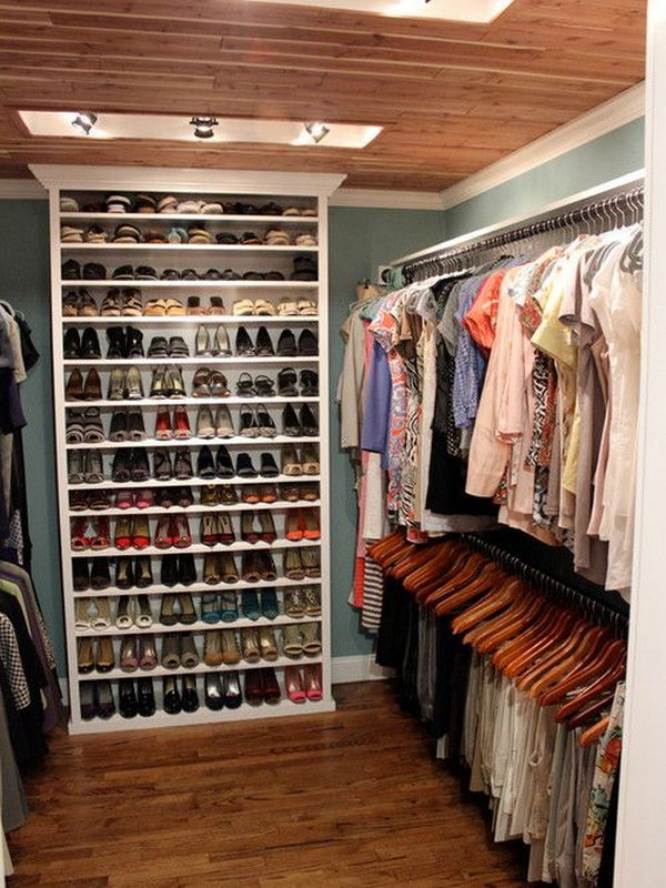 small closet solutions bookcase for shoes