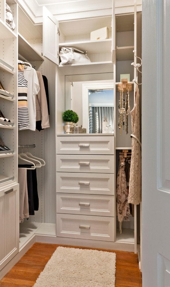 Small closet solutions built in cabinets