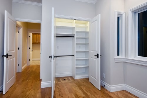 Small Closet Solutions Built In Cabinet