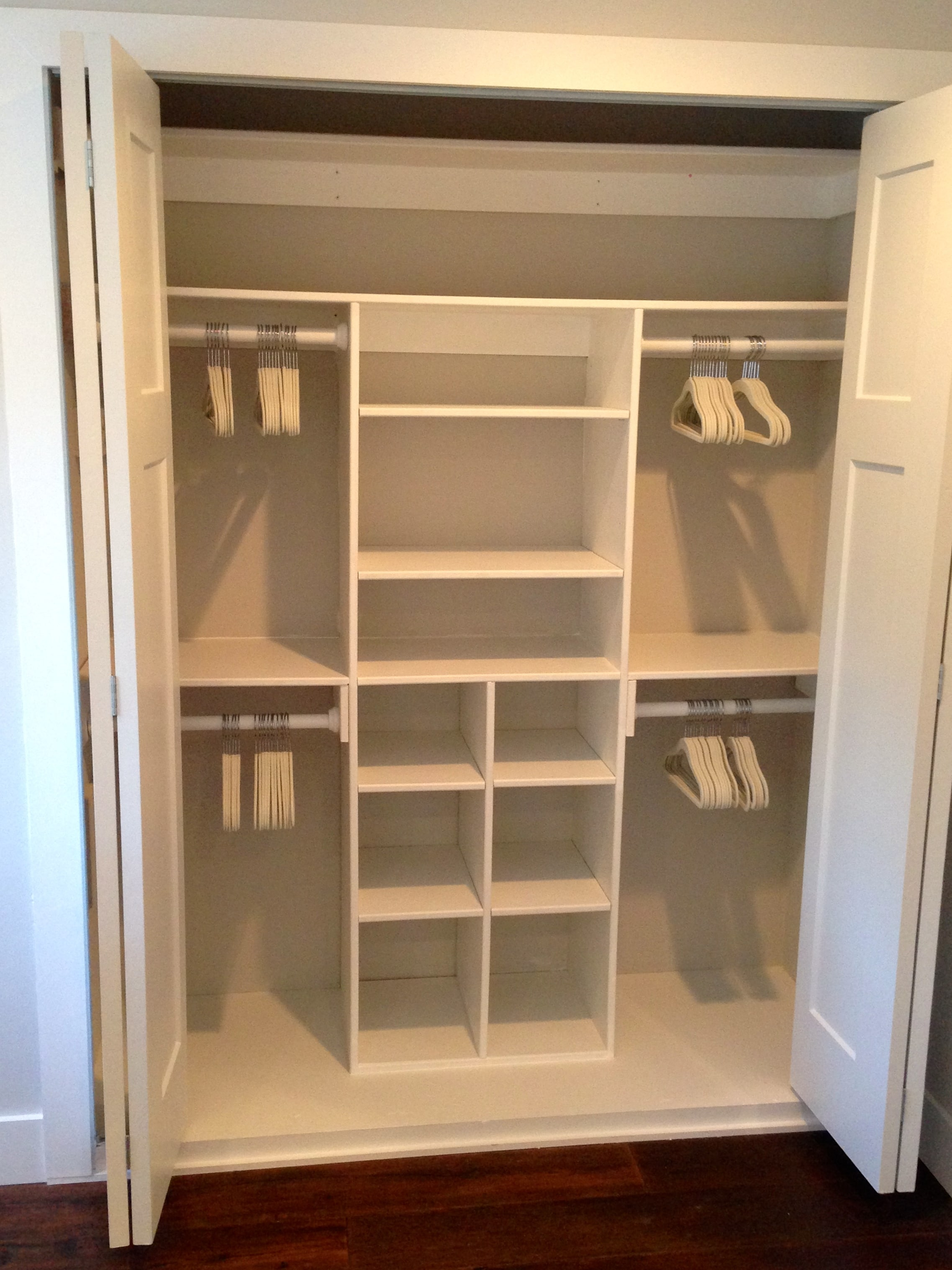 Lovely Small Closet Solutions DIY Built In Cabinets