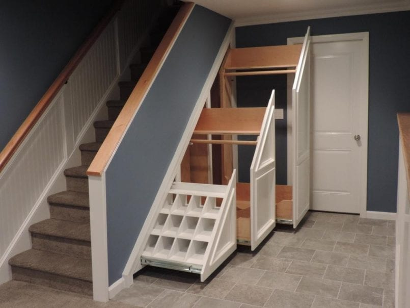 small closet solutions closets in hidden spaces with pull out cabinets