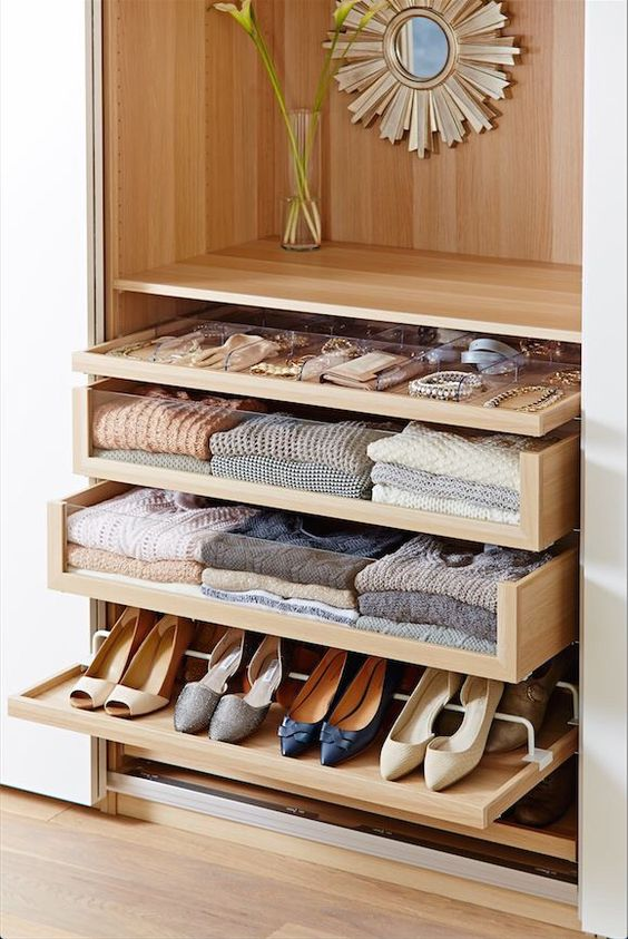 small closet solutions pull out shoe shelves